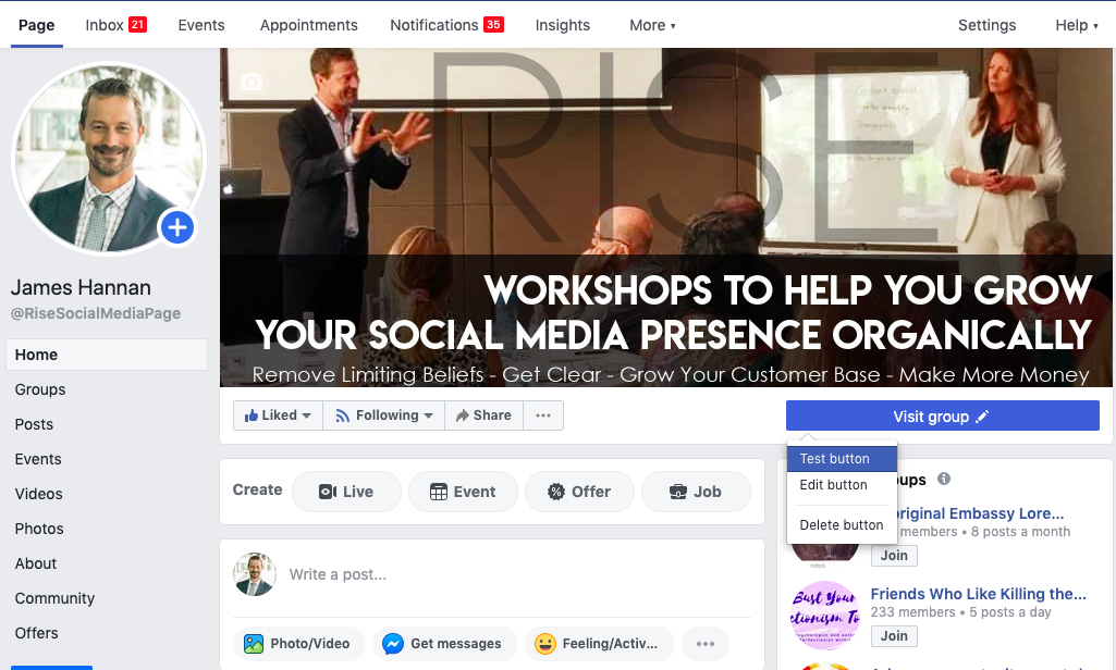 1.connect google calendar to facebook page edit button to book now