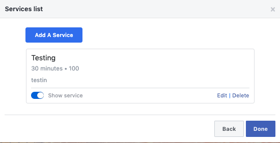 14.connect google calendar to facebook page click done