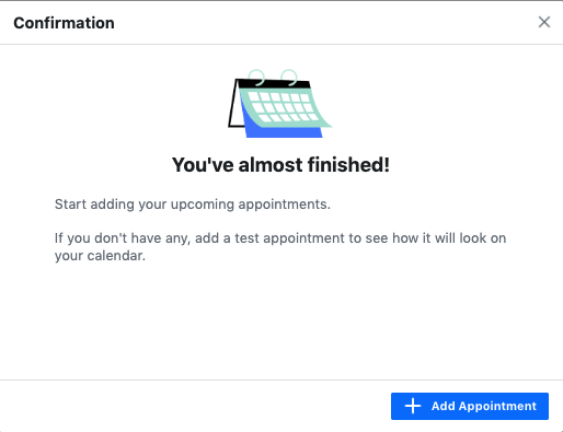 15.connect google calendar to facebook page add appintment