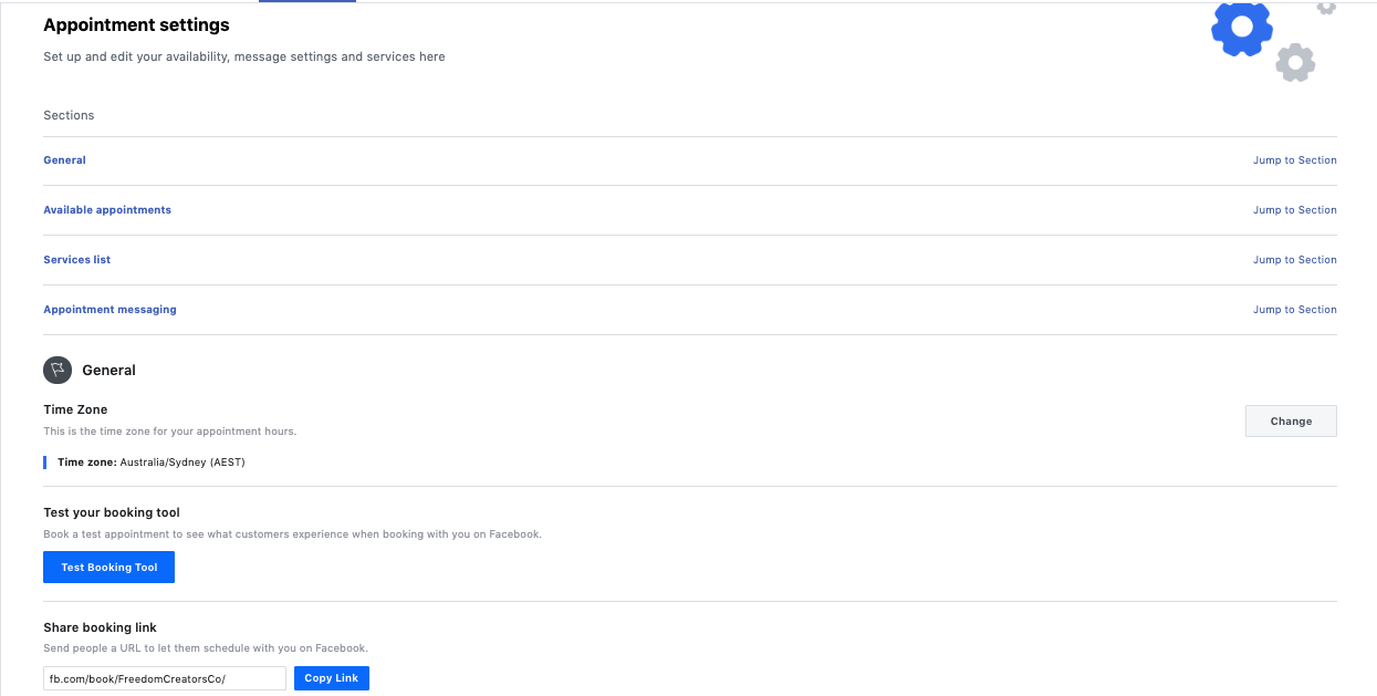 18.connect google calendar to facebook page