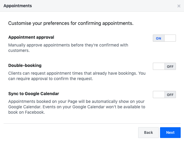 6.connect google calendar to facebook page connect google account