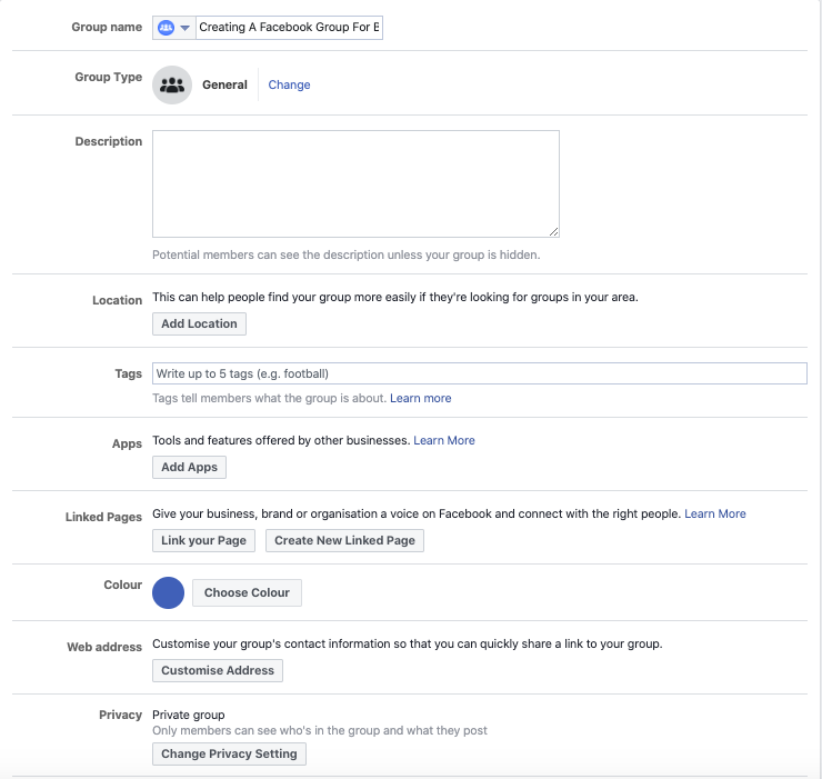 How To Create A Facebook Group For Business 9