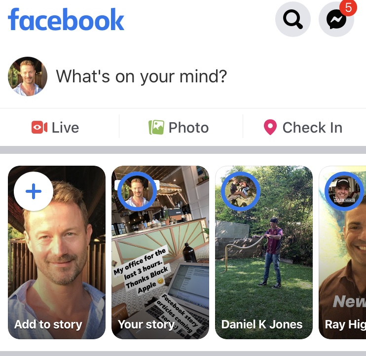 How to Create a Facebook Story 1