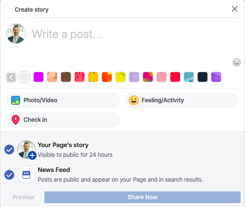 How to Do a Facebook Story on a Business Page 7