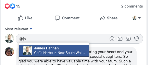 How to Tag Someone in a Facebook Group 2